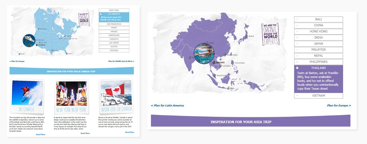 Round the World Interactive Planning Pages